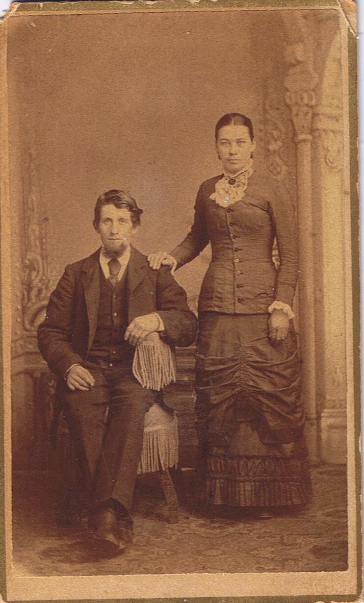George and Caroline Klein on their Wedding Day