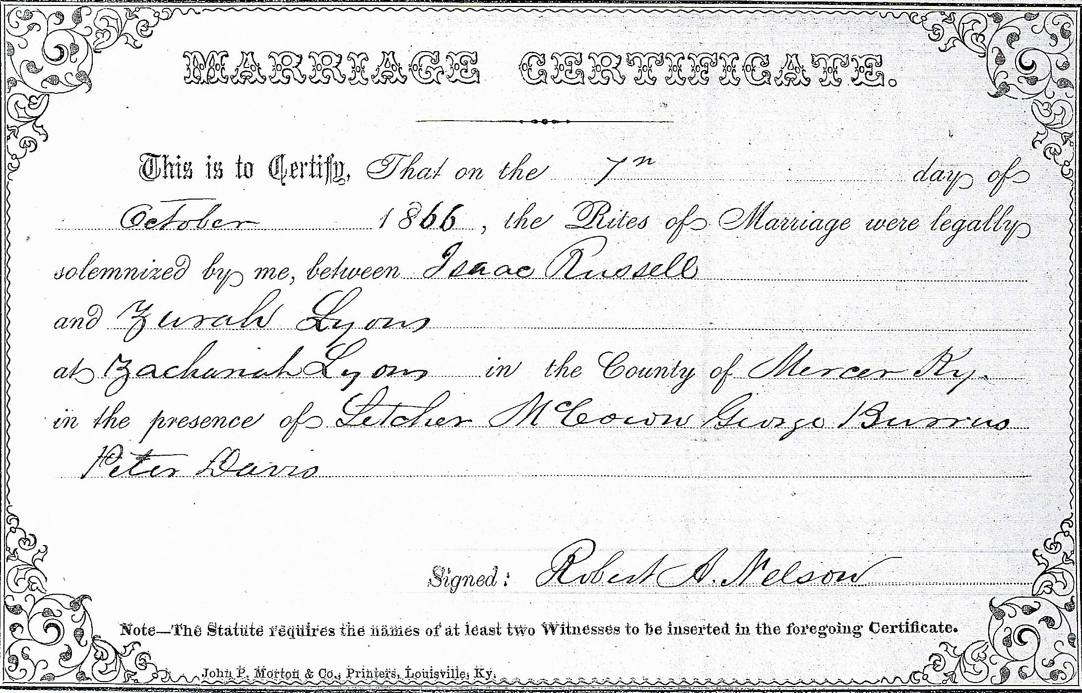 Marriage License Kentucky Kindred Genealogy
