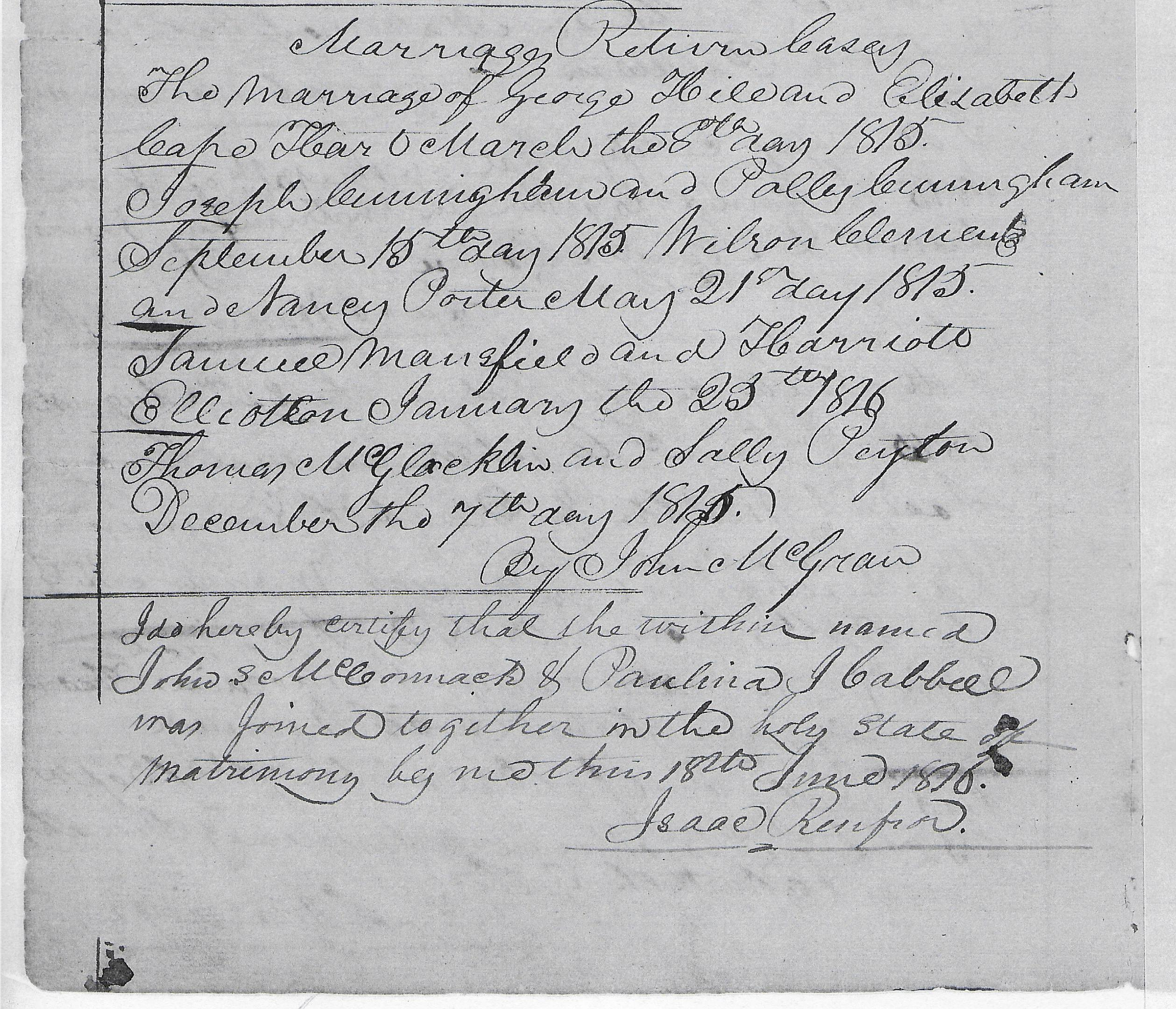 Marriage Records: Kentucky Kindred Genealogy